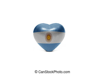 heart with national flag of argentina