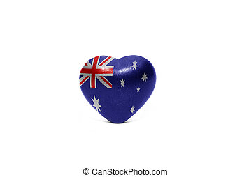 heart with national flag of australia