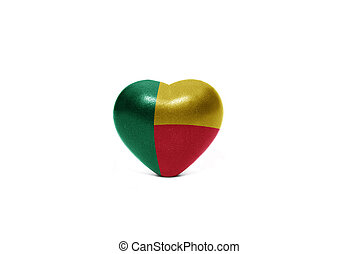 heart with national flag of benin