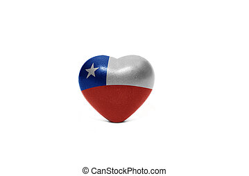 heart with national flag of chile