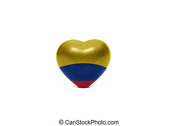 heart with national flag of colombia