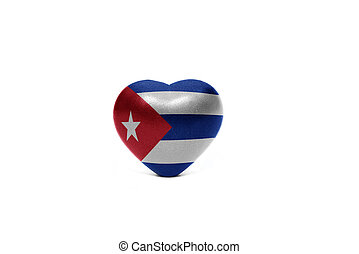 heart with national flag of cuba