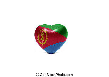 heart with national flag of eritrea