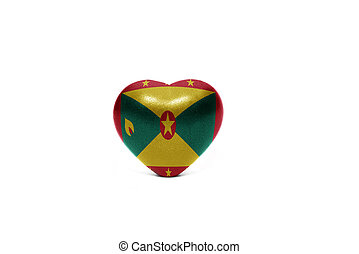heart with national flag of grenada