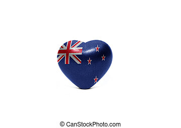 heart with national flag of new zealand
