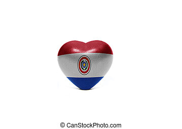 heart with national flag of paraguay