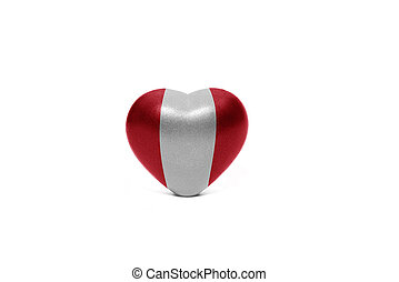 heart with national flag of peru