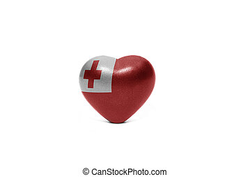 heart with national flag of Tonga