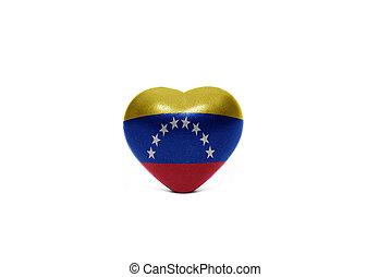 heart with national flag of venezuela