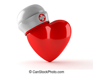 Heart with nurse hat