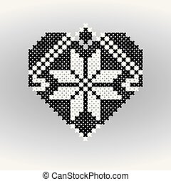 Heart with Ornaments made out of the Cross.