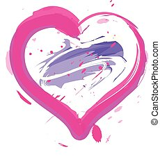Heart with Paint Strokes