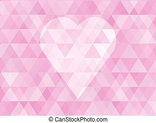 heart with pink abstract background