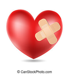 heart with plaster