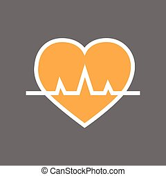Heart With Pulse Beat Rate Icon