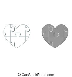 Heart with puzzle