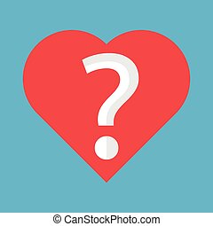 Heart with question mark