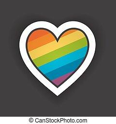 Heart with Rainbow