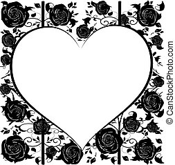 heart with roses