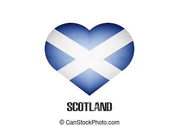 Flag of Scotland in the form of a heart