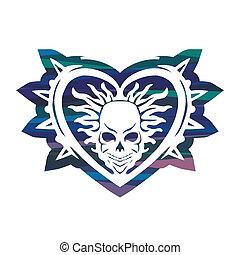 heart with skull