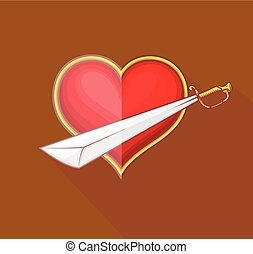 Heart with Sword