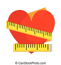 heart with tape measure