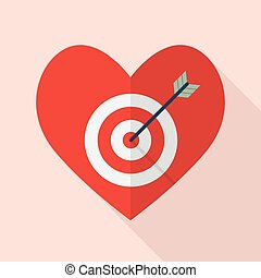 Heart with target