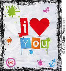 heart with text I love you