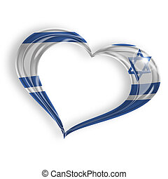 heart with the colors of the Israeli flag