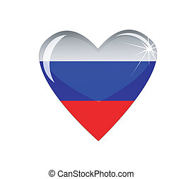 heart with the flag of Russia