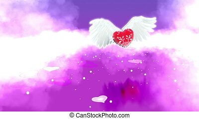 heart with wings in Paradise