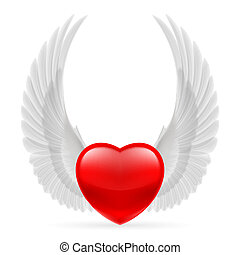 Heart with wings up