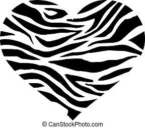 Heart with zebra pattern