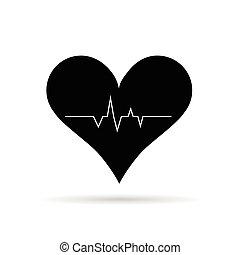 heart zdravotní stav, vektor