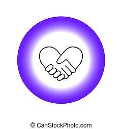 heart8, bilda, handslag