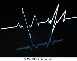 Heartbeat - An Electrocardiogram shows a heart rate