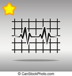 heartbeat black Icon button logo symbol concept high quality