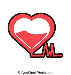 heartbeat blood donation symbol