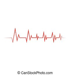 Heartbeat Cardiogram Icon Vector illustration