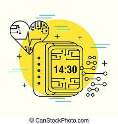 heartbeat digital clock healthcare technology