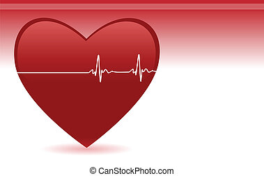 Heartbeat - Editable vector background with space for your...
