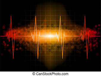 Heart beat monitor in the dark