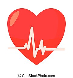 Heartbeat icon in cartoon style