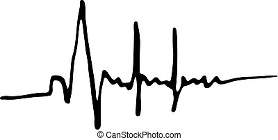 Heartbeat icon isolated on white background in style hand...