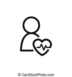 heartbeat icon sign