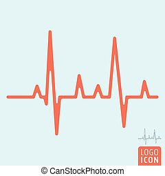Heartbeat line icon