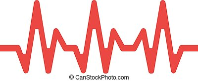 Heartbeat line on a white background. Vector illustration EPS10