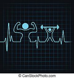 heartbeat make a body builder