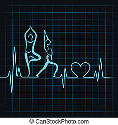 heartbeat make a yoga girl & heart - heartbeat make a yoga...